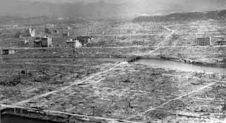 photo prise après le bombardement d'Hiroshima